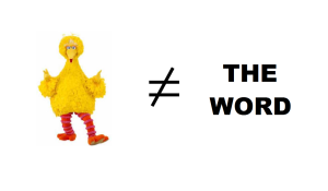 the bird is unequal to the word