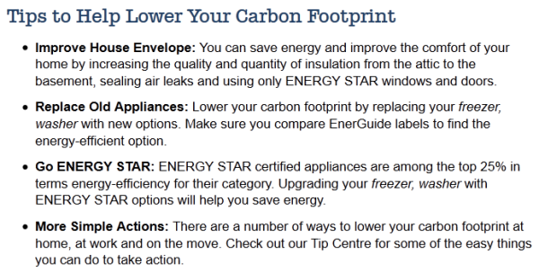carbon footprint tips